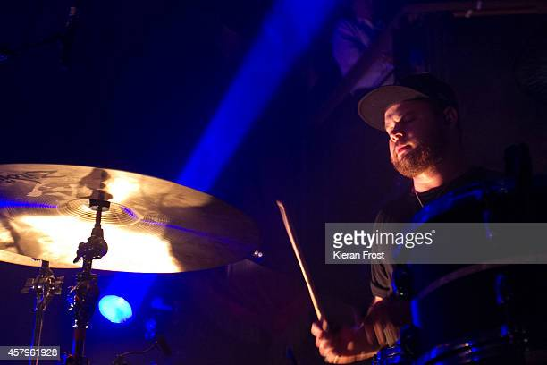 Ben Thatcher of Royal Blood performs on stage at The Academy on October 27, 2014 in Dublin, Ireland.