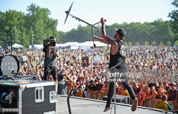 Ben Thatcher of Royal Blood performs on the Firefly Stage during the 2018 Firefly Music Festival on June 16 2018 in Dover Delaware