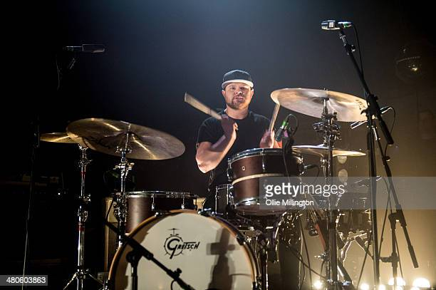 Ben Thatcher of Royal Blood performs onstage at the NME Awards Tour Show at The Institute on March 25 2014 in Birmingham England