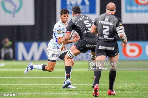 Ben Thomas Volavola of Racing 92 during the Top 14 match between Racing and Toulouse on February 17 2019 in Nanterre France