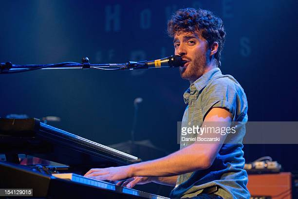 Ben Thornewill of Jukebox the Ghost performs on stage at House Of Blues Chicago on October 12 2012 in Chicago Illinois