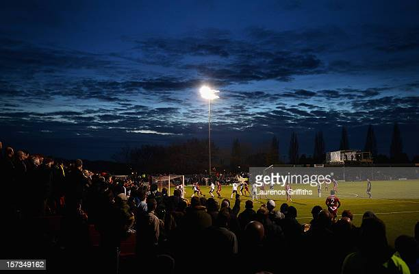 Ben Tomlinson of Alfreton Town scores the second goal during the FA Cup with Budweiser Second Round match between Alfreton Town and Leyton Orient at...