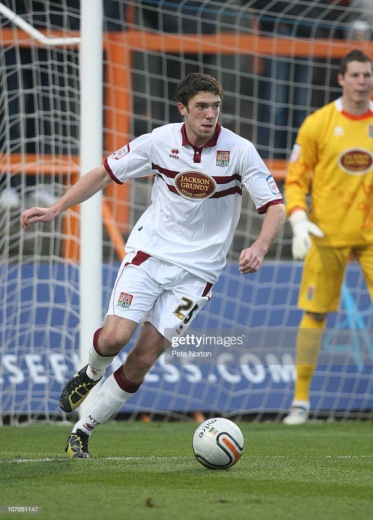 Ben Tozer of Northampton Town in action during the npower League Two match between Barnet and Northampton Town at Underhill Stadium on November 20, 2010 in Barnet, England