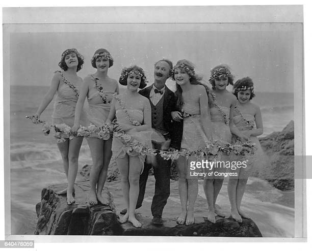 Ben Turpin and the Bathing Beauties were featured in many silent movies