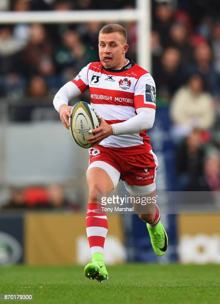 Ben Vellacott of Gloucester Rugby during the AngloWelsh Cup match at Welford Road on November 4 2017 in Leicester England