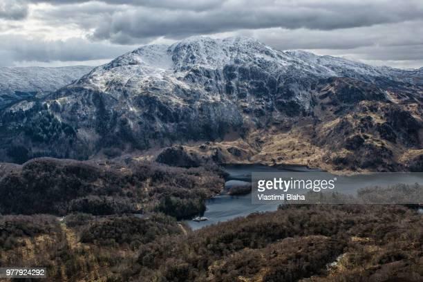 Ben Venue over Loch Katrine, Trossachs, Scottish Highlands, Scotland, UK