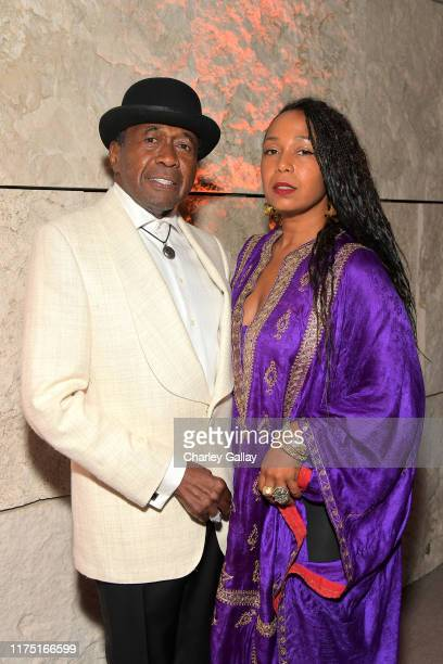 Ben Vereen and Karon Davis attend The J Paul Getty Medal Dinner 2019 at The Getty Center on September 16 2019 in Los Angeles California
