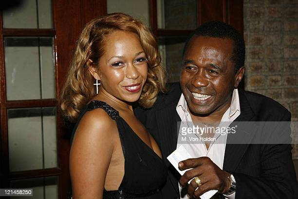 Ben Vereen and Karon Vereen during Chicago Opening Night with Usher Arrivals at Ambassador Theatre in Manhattan New York United States