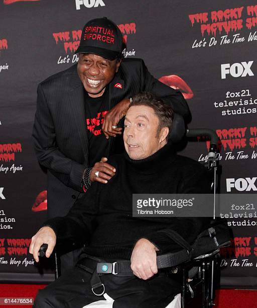 Ben Vereen and Tim Curry attend the premiere of Fox's 'The Rocky Horror Picture Show Let's Do The Time Warp Again' at The Roxy Theatre on October 13...