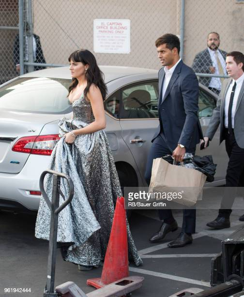 Ben Volavola and Shailene Woodley are seen at 'Jimmy Kimmel Live' on May 23 2018 in Los Angeles California