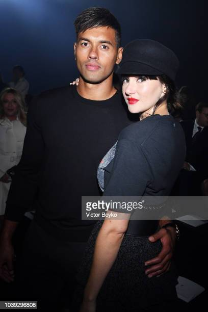 Ben Volavola and Shailene Woodley attend the Christian Dior show as part of the Paris Fashion Week Womenswear Spring/Summer 2019 on September 24 2018...