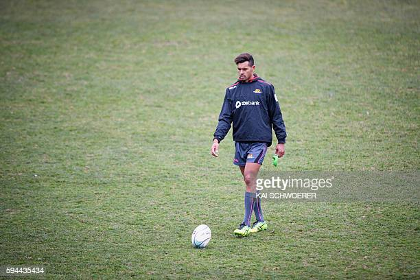 Ben Volavola of Canterbury looks on during a Canterbury Mitre 10 Cup training session at Rugby Park on August 24 2016 in Christchurch New Zealand