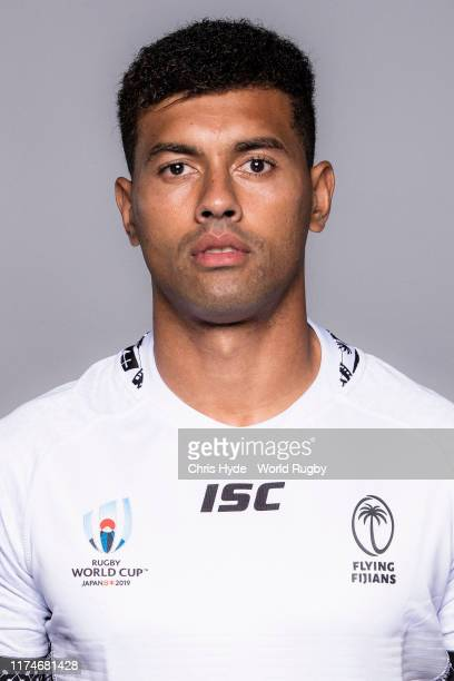 Ben Volavola of Fiji poses for a portrait during the Fiji Rugby World Cup 2019 squad photo call on September 14 2019 in Abashiri Hokkaido Japan