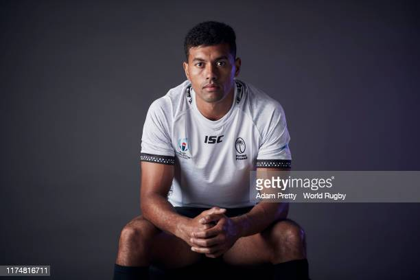 Ben Volavola of Fiji poses for a portrait during the Fiji Rugby World Cup 2019 squad photo call on September 14, 2019 in Abashiri, Hokkaido, Japan.