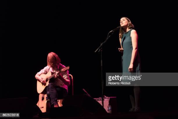 Ben Walker and Josienne Clarke perform on stage at Usher Hall on October 17 2017 in Edinburgh Scotland
