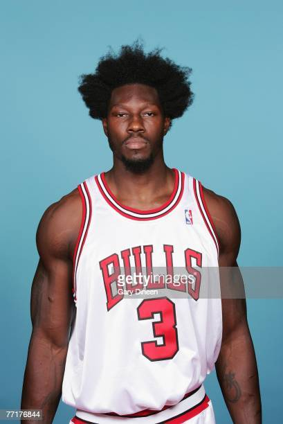 Ben Wallace of the Chicago Bulls poses for a portrait during NBA Media Day at the Sheri L Berto Center on October 1 2007 in Chicago Illinois NOTE TO...