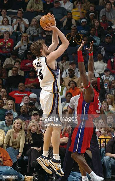Ben Wallace of the Detroit Pistons shoots a free throw during the game with the Memphis Grizzlies on December 19 2005 at FedexForum in Memphis...