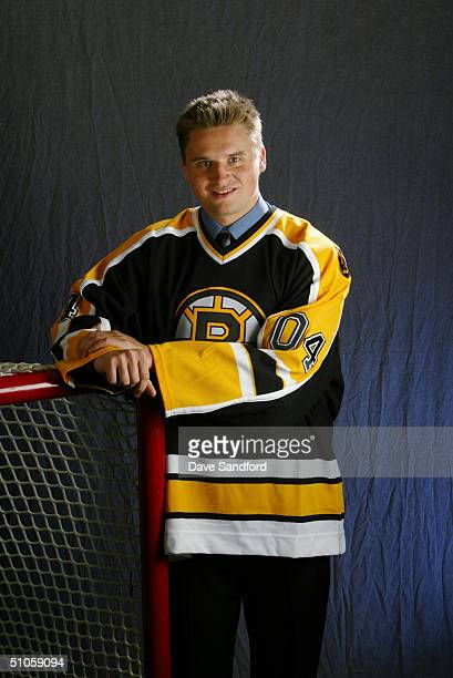 Ben Walter of the Boston Bruins poses for a portrait during the 2004 NHL Draft on June 26, 2004 at the RBC Center in Raleigh, North Carolina.
