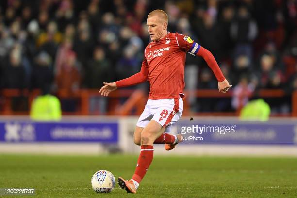 Ben Watson of Nottingham Forest during the Sky Bet Championship match between Nottingham Forest and Charlton Athletic at the City Ground Nottingham...