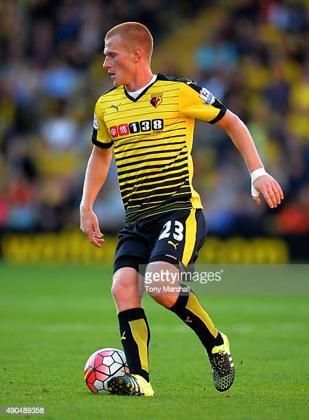 Ben Watson of Watford during the Barclays Premier League match between Watford and Crystal Palace at Vicarage Road on September 27 2015 in Watford...