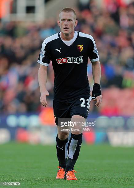 Ben Watson of Watford during the Barclays Premier League match between Stoke City and Watford at Britannia Stadium on October 24 2015 in Stoke on...