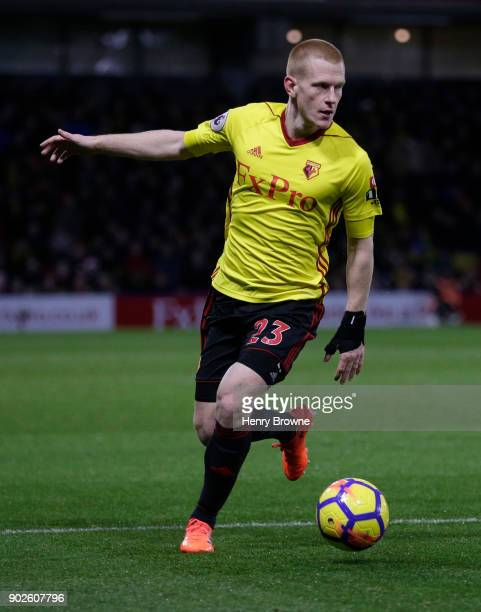 Ben Watson of Watford during the Premier League match between Watford and Leicester City at Vicarage Road on December 26 2017 in Watford England