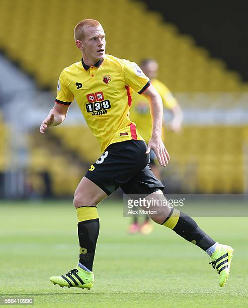 Ben Watson of Watford during the preseason friendly match between Watford and Lorient at Vicarage Road on August 6 2016 in Watford England