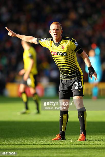 Ben Watson of Watford in action during the Barclays Premier League match between Watford and Manchester United at Vicarage Road on November 21 2015...