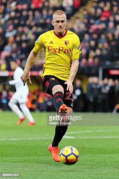 Ben Watson of Watford in action during the Premier League match between Watford and Swansea City at the Vicarage Road on December 30 2017 in Watford...