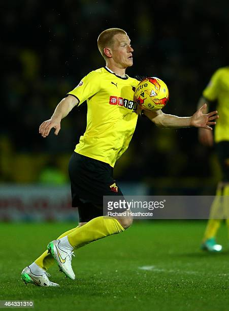 Ben Watson of Watford in action during the Sky Bet Championship match between Watford and Rotherham United at Vicarage Road on February 24 2015 in...