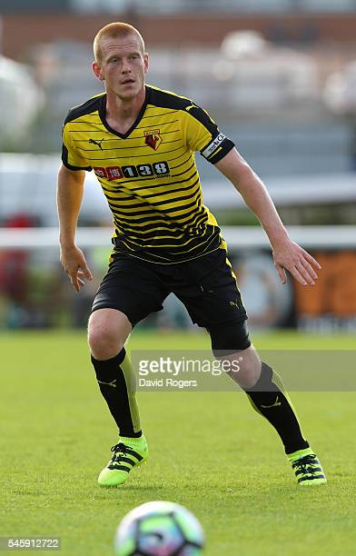 Ben Watson of Watford looks on during the pre season friendly match between Woking and Watford at The Laithwaite Community Stadium on July 10 2016 in...