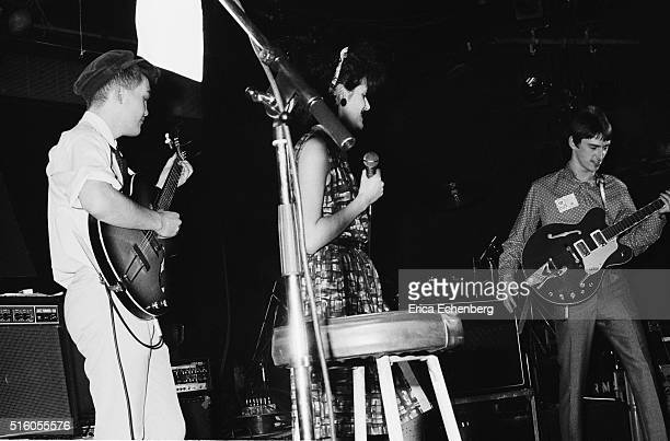 Ben Watt and Tracey Thorn of Everything But The Girl perform on stage with guest Paul Weller at the ICA London United Kingdom 5th January 1983