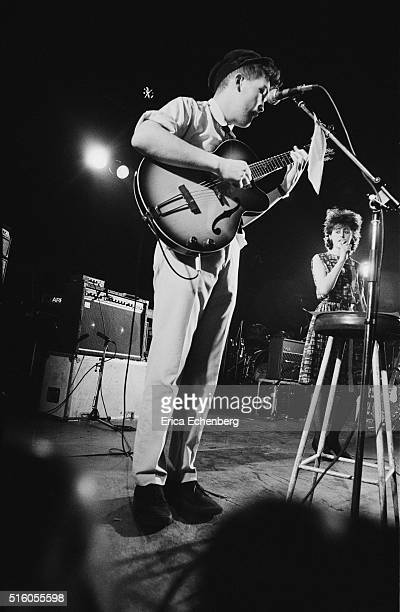 Ben Watt and Tracey Thorn of Everything But The Girl perform on stage at the ICA London United Kingdom 5th January 1983