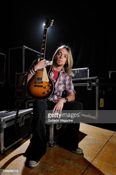 Ben Wells of American rock band Black Stone Cherry during a portrait shoot for Guitarist Magazine November 23 2011