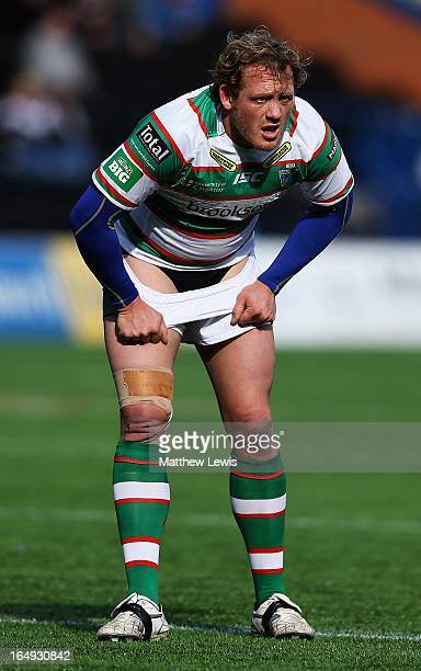 Ben Westwood of the Warrington Wolves in action during the Super League match between Widnes Vikings and Warrington Wolves at the Stobart Stadium...