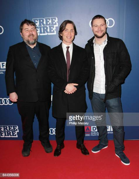 Ben Wheatley Cillian Murphy and Jack Raynor appear at the screening Of 'Free Fire' At The Audi Dublin International Film Festival on February 23 2017...