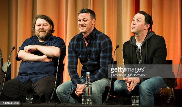 Ben Wheatley Luke Evans and Reece Shearsmith attend preview Screening and QA of 'High Rise' at BFI Southbank on March 14 2016 in London England