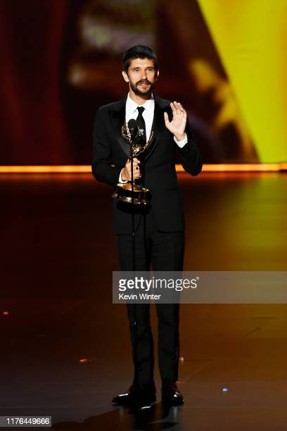 Ben Whishaw accepts the Outstanding Supporting Actor in a Limited Series or Movie award for 'A Very English Scandal' onstage during the 71st Emmy...