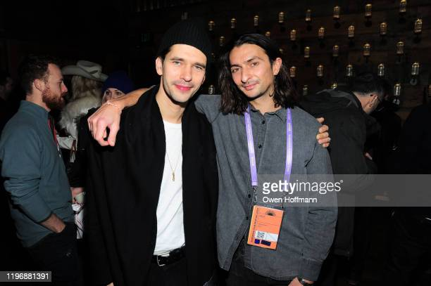 Ben Whishaw and Aneil Karia attend Brunch With The Brits 2020 during the Sundance Film Festival at High West Distillery on January 26 2020 in Park...