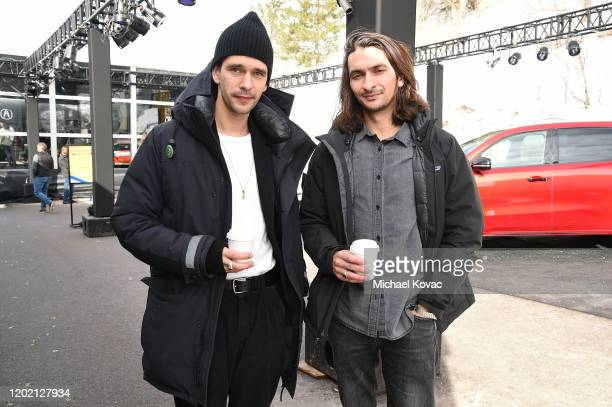 Ben Whishaw and Aneil Karia attend the IMDb Studio at Acura Festival Village on January 26 2020 in Park City Utah