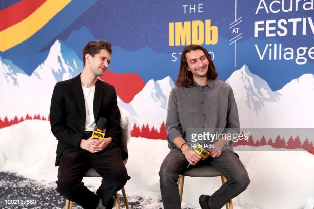 Ben Whishaw and Aneil Kria of 'Surge' attend the IMDb Studio at Acura Festival Village on location at the 2020 Sundance Film Festival – Day 3 on...