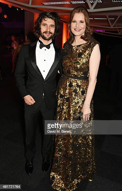 Ben Whishaw and Geena Davis attend the after party for 'Suffragette' on the opening night of the BFI London Film Festival at Old Billingsgate Market...