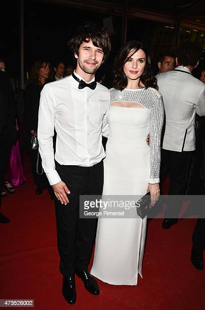 Ben Whishaw and Rachel Weisz leave the 'Lobster' Premiere during the 68th annual Cannes Film Festival on May 15 2015 in Cannes France
