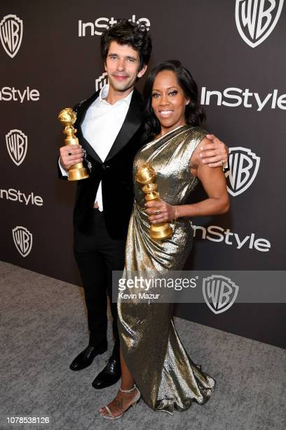 Ben Whishaw and Regina King attend the 2019 InStyle and Warner Bros 76th Annual Golden Globe Awards PostParty at The Beverly Hilton Hotel on January...