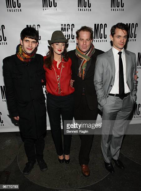 Ben Whishaw Andrea Riseborough Adam James and Hugh Dancy attends the opening night of 'The Pride' at the Maritime Hotel on February 16 2010 in New...