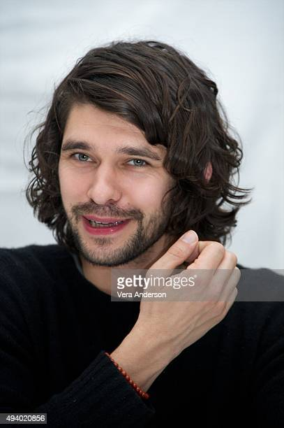 Ben Whishaw at the Spectre Press Conference at the Corinthia Hotel London on October 23 2015 in London England