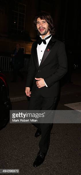 Ben Whishaw attending the Spectre Premiere after party at the British Museum on October 26 2015 in London England