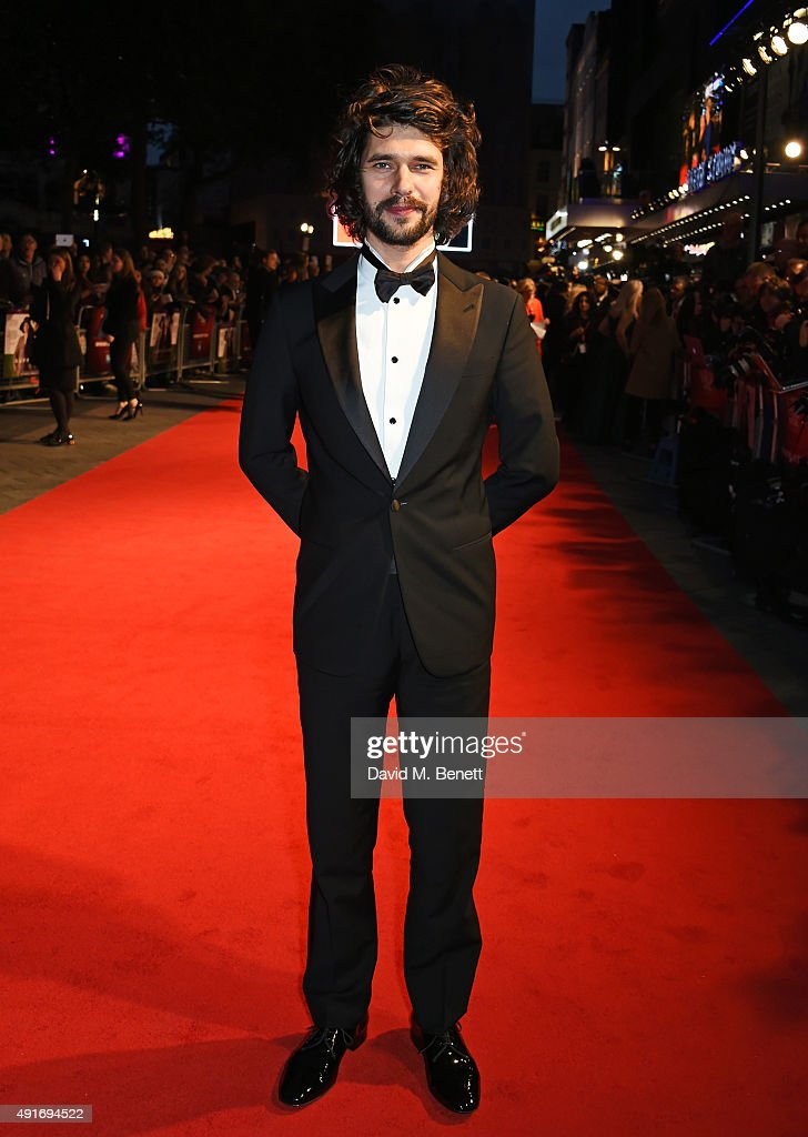 Ben Whishaw attends a screening of 'Suffragette' on the opening night of the BFI London Film Festival at Odeon Leicester Square on October 7, 2015 in London, England.