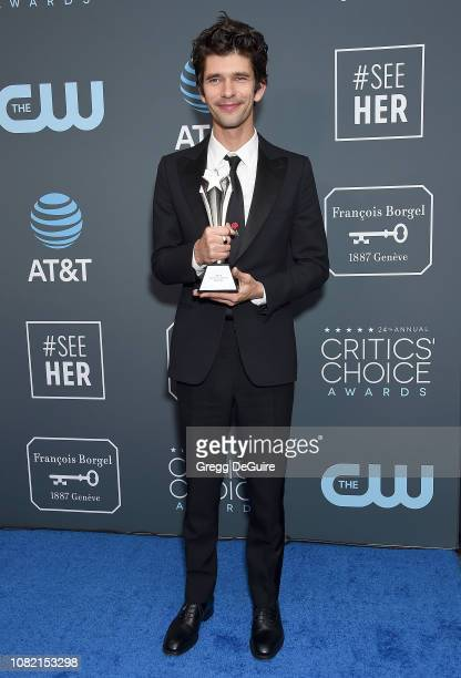 Ben Whishaw Best Supporting Actor in a Movie/Miniseries winner for A Very English Scandal poses in the press room at The 24th Annual Critics' Choice...