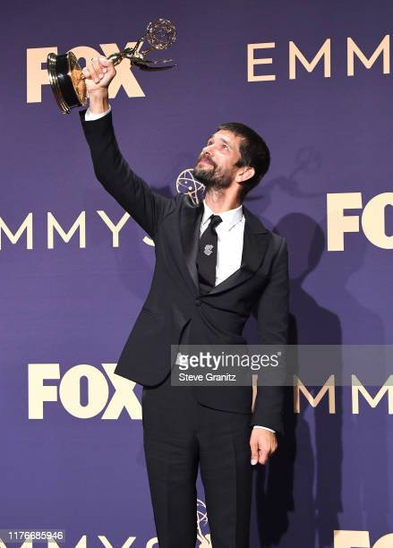 Ben Whishaw poses at the 71st Emmy Awards at Microsoft Theater on September 22, 2019 in Los Angeles, California.